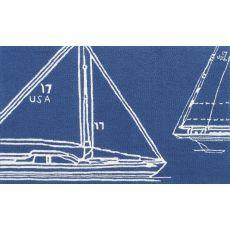 Sail Away Blue Hook Rug, 8 X 10