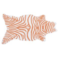 Mini Zebra Tangerine Hook Rug