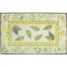 Daisy Chain Flannel Wool Loops Rug, 3.9 X 5.9