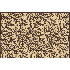 Coral Reef Black Tufted Rug, 7.6 X 9.6