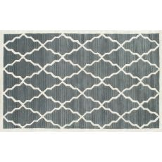 Pemberly Grey Tufted Rug, 5 X 8