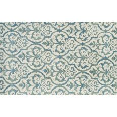 Elligant Grille Blue Tufted Rug, 5 X 8