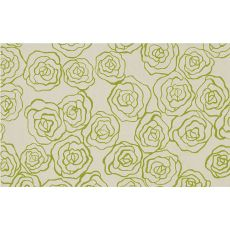 Deco Rose Green Hook Rug, 5 X 8