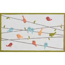 Birds On A Wire 2.8 X 4.8 Hook Rug, 2.8 X 4.8
