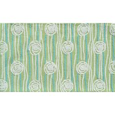 Rosalita Green Hook Rug, 2.8 X 4.8