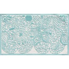 Lacy Aqua Hi/Low Hook Rug