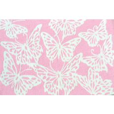 Multi Butterfly Pink Hook/Tufted Rug, 2.8 X 4.8