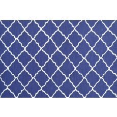 Lattice Navy Hook/Tufted Rug