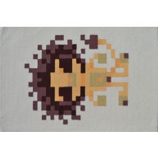 Pixel Lion Boy Hook Rug