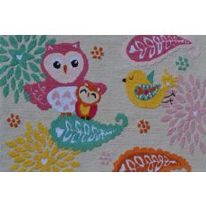 Birds Of A Feather Hook Rug, 2.8 X 4.8