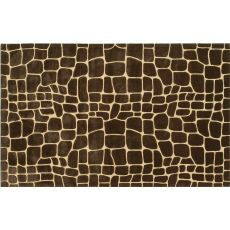 Croc Brown Tufted Rug, 5 X 8