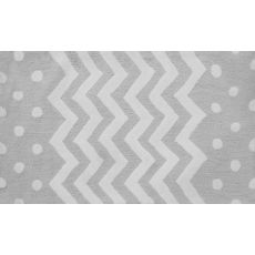 Zigzag Grey Hook Rug, 4.7 X 7.7