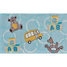 Abc Bear Blue Tufted Rug, 2.8 x 4.8