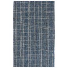 """Liora Manne Savannah Mad Plaid Indoor Rug Blue 24""""X7'6"""""""