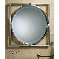 Uttermost Kagami Brushed Nickel Mirror