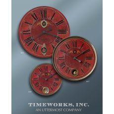 """Uttermost Regency Villa Tesio 23"""" Red Wall Clock"""