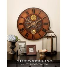 "Uttermost Simpson Starkey 23"" Wall Clock"