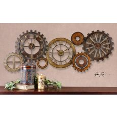 Uttermost Spare Parts Wall Clock