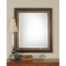 Uttermost Fabiano Black Wood Mirror
