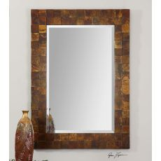 Uttermost Ambrosia Copper Mosaic Mirror