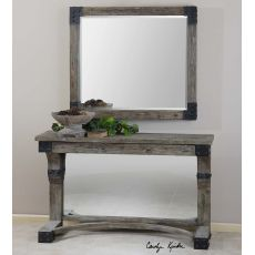 Uttermost Nelo Weathered Wood Mirror