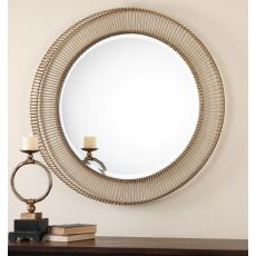 Uttermost Bricius Round Metal Mirror
