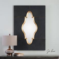 Uttermost Kamal Black Leather Mirror