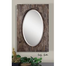 Uttermost Hichcock Distressed Oval Mirror
