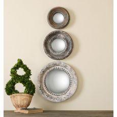 Uttermost Adelfia Round Mirrors, S/3