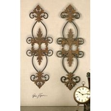 Uttermost Lacole Rustic Metal Wall Art, Set/2