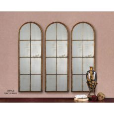 Uttermost Amiel Arched Brown Mirror