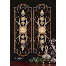 Uttermost Micayla Antique Metal Panels, Set/2