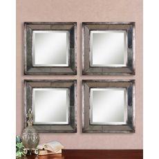 Uttermost Davion Squares Silver Mirror Set/2