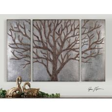 Uttermost Winter View Rustic Tree Mirror Set/3