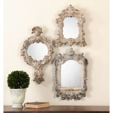 Uttermost Rustic Artifacts Reflection Mirrors, S/3