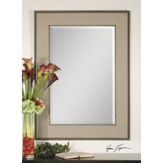 Uttermost Marilla Beaded Silver Mirror