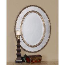 Uttermost Lara Oval Champagne Silver Mirror