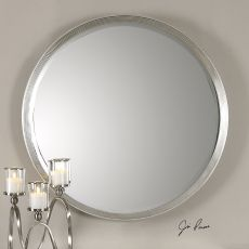 Uttermost Serenza Round Silver Mirror