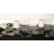 Uttermost Lying Lotus Metal Candleholders