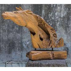 Uttermost Teak Horse Sculpture