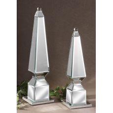 Uttermost Alanna Mirrored Finials, Set/2