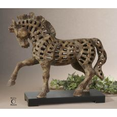 Uttermost Prancing Horse Antique Sculpture