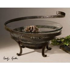 Uttermost Duff Glass & Metal Decorative Bowl