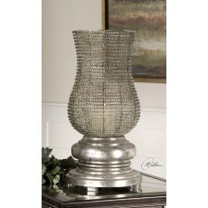 Uttermost Rickma Antique Silver Candleholder