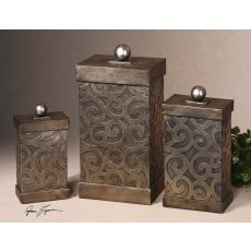 Uttermost Nera Metal Decorative Boxes, Set/3