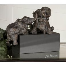Uttermost Playful Pachyderms Bronze Figurines