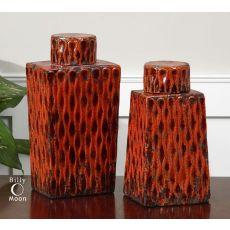 Uttermost Raisa Burnt Orange Containers, Set/2