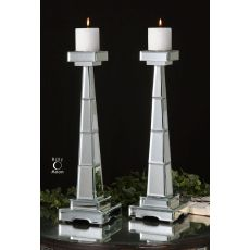 Uttermost Alanna Mirrored Candleholders, Set/2