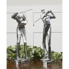Uttermost Practice Shot Metallic Statues, Set/2