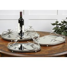 Uttermost Birds On A Limb Mirrored Trays, Set/3